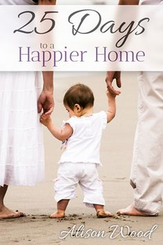 In 25 Days to a Happier Home I take you through each day with honest, mom-to-mom and wife-to-wife advice. By candid yet caring demeanor I offer these heart-searching challenges to help your home. I have shared my own struggles to encourage you in every challenge to keep pressing forward.