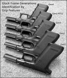 Ammo and Gun Collector: Glock Generations Chart