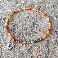 Sacral Chakra Anklet, Chakra Gemstones and Carnelian Anklet Chakra Necklace, Chakra Jewelry, Gemstone Jewelry, Beaded Anklets, Beaded Necklace, Beaded Bracelets, Ankle Chain, Ankle Bracelets, Sacral Chakra