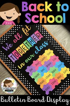 Back To School Bulletin Boards: Back To School Puzzle Display - My Women Style Pins Puzzle Bulletin Boards, Welcome Bulletin Boards, Kindergarten Bulletin Boards, Classroom Welcome, Welcome To Kindergarten, Back To School Bulletin Boards, Classroom Bulletin Boards, Classroom Ideas, Future Classroom