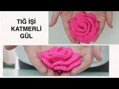 Merakla beklenen katmerli gül/ örgü modelleri /tığ işi Çiçek Gül yapımı - YouTube