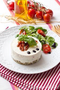 Cheesecake salé Ricotta, Basilic et Tomates séchées / Salty cheesecake italian way