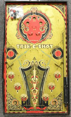 Antique 1920's 1930's Trik E Shot by Gotham Art Deco Bagatelle Pinball Game | eBay