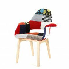Replica Eames Saarinen Organic Chair   Patchwork FabricReplica Eero Saarinen Tulip Coffee Table One of these to sit in  . Eames Saarinen Replica Organic Chair Perth. Home Design Ideas