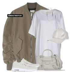 """""""Untitled #2606"""" by whokd ❤ liked on Polyvore featuring Fear of God, Off-White, River Island, Balenciaga, NIKE and Michael Kors"""