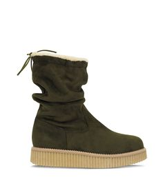 Grumman Flat Bootie for warm footsteps. Fall Trends, Color Trends, Green Colors, Earthy, Olive Green, Fall Winter, Blue And White, Booty, Warm