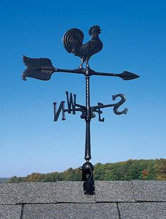 """Whitehall Products 24"""" Rooster Accent Weathervane - Black at Menards"""