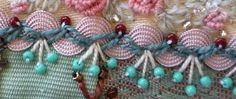 I love this beautiful crazy quilt stitch made using rick rack