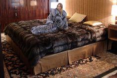 Interior Exterior, Interior Design, Fur Bedding, Faux Fur Blanket, Fur Accessories, Cozy Nook, Bedroom Bed, Bedroom Ideas, Bedrooms