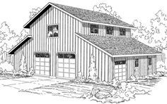 Garage Plan 59474 | Country Plan with 1018 Sq. Ft. at family home plans.