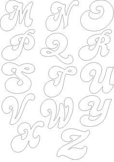 Letras grandes para colorear - Dibujos para colorear -    IMAGIXS   3 CM