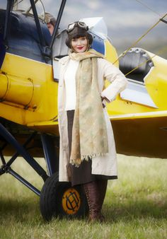 Miss Phryne Fisher (Essie Davis). If I were around during these times I would be a pilot too.