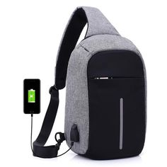 191039c5cd USB Charging Incline Shoulder Bag (3 colors)