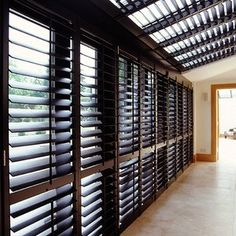 The New England Shutter Co offer custom-made conservatory window shutters to screen conservatory roofs, glass buildings and lantern lights. Wooden Shutters, Window Shutters, Conservatory Design, Shaped Windows, Roof Coating, Glass Building, Solar Shades, Roof Light, Suede Fabric