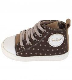 Βαπτιστικό παπούτσι από κανελλί καστόρι και καφέ ύφασμα αστεράκι, ανατομικό, BABYWALKER. Eλληνικής παραγωγής. High Tops, High Top Sneakers, Shoes, Fashion, Moda, Zapatos, Shoes Outlet, Fashion Styles, Shoe