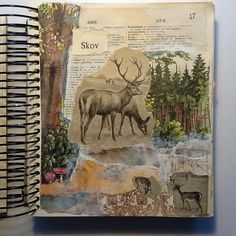 Seaweed Kisses: The Journal Diaries- Tina's Collage Journals - ARt Director Collage Kunst, Collage Art, Newspaper Collage, Nature Collage, Collages, Sketchbook Inspiration, Art Journal Inspiration, Journal Ideas, Journal Prompts