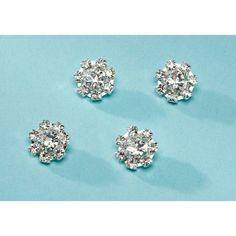 Bulk Buy: Darice DIY Crafts David Tutera Rhinestone Hair Snaps Flower Silver 1/2 inch (3-Pack) DT30571 ** More info could be found at the image url.