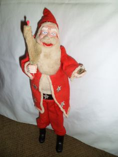 "Vintage Santa made in Japan, 15"" tall, with upper and lower teeth"