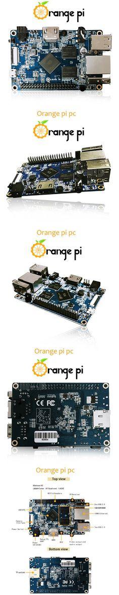 Orange Pi PC H3 Quad-core Learning Development Board Mali400MP2 GPU 1GB DDR3 Support 100M LAN