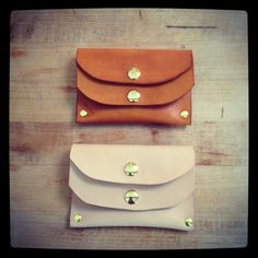 Love these card wallets from Farrell & Company!