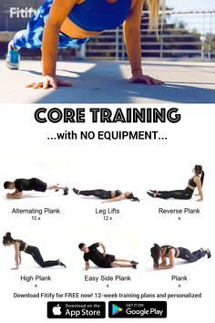 NO EQUIPMENT : Abs & Core Exercises Abs & Core Workout Routine at Home Exercises to build stability, improve healthy posture and carve your six-pack. Core Workout Routine, Ab Core Workout, Six Pack Abs Workout, Butt Workout, Gym Workouts, At Home Workouts, Fitness Exercises, Core Exercises, Exercise At Home