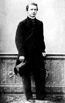 Young Tchaikovsky with his top hat