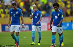 Brazil failed to create opportunities in the opening period and trudged off looking dejected