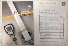 Tag Heuer Katalog New Line 1988 mit Preisliste, Microsplit, Swiss Made Tag Heuer, Vintage Watches, Casio Watch, Ebay, Price List, Catalog, Vintage Clocks