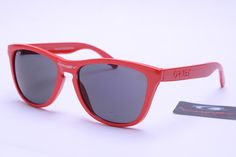c53adc103b Oakley Frogskins Sunglasses Red Frame Grey Lens is your best choice