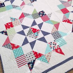 Moda Love pattern using Daysail by Bonnie & Camille | http://www.unitednotions.com/Moda-Love-Layer-Cake-Quilt.pdf