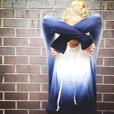Dip dyed Bettina hoodie! Adore!