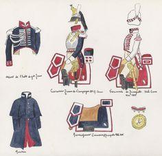 Naples; Garde Royale, Regiment of Cuirassiers, Uniform details & Horse Furniture 1814-15 by H.Boisselier.
