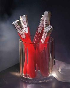 Take shots of blood. | 21 Ways To Get Scary Drunk On Halloween