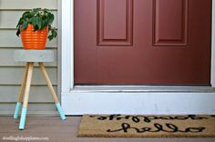 A blogger attempts a $5 Pinterest concrete hack and the result is AMAZING!
