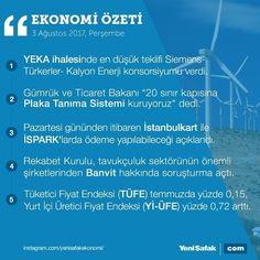 #EkonomininÖzeti 3 Ağustos Ekonomi Bülteni #YEKA #enerji #plaka #ispark #istanbulkart #banvit #tavuk #enflasyon