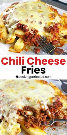 Chilli Recipes, Beef Recipes, Cooking Recipes, Family Recipes, Cheese Recipes, Potato Recipes, Chili Cheese Nachos, Chilli Cheese Fries, Homemade Nachos