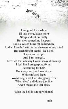 The truth of depression. Sad Quotes, Life Quotes, Inspirational Quotes, Qoutes, Deep Quotes, Random Quotes, Positive Quotes, Inspirierender Text, Depression Quotes