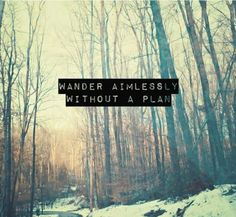 wander aimlessly...
