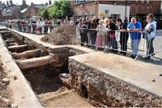 The dig at New Street in Leicester which uncovered Richard III's remains.