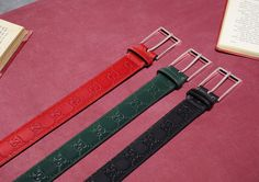 Gucci • This season's leather belts crafted inGucci...