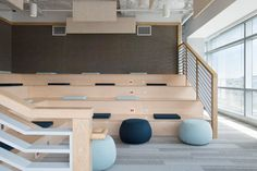 Eventbrite offices by Rapt Studios - stadium seating