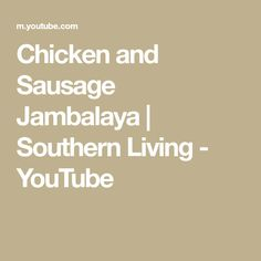 Jambalaya is a hallmark of the Creole cuisine. It is a versatile dish that combines cooked rice with a variety of ingredients that can include tomatoes, onio. Green Bell Peppers, Stuffed Green Peppers, Chicken And Sausage Jambalaya, Southern Living Magazine, Cajun Cooking, The Dish, Dishes, Youtube, Recipes