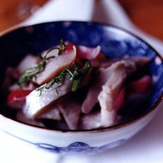A swedish feast would not be complete without pickled herring.
