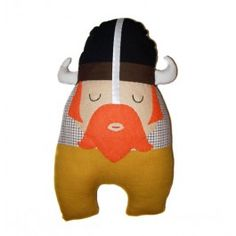 Muñeco de tela modelo vikingo hecho a mano de la marca Chiribambola.