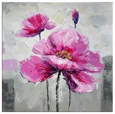 TereTere Acrylic Flowers, Abstract Flowers, Watercolor Flowers, Watercolor Art, Abstract Canvas Art, Acrylic Painting Canvas, Painting Frames, Arte Floral, Flower Art