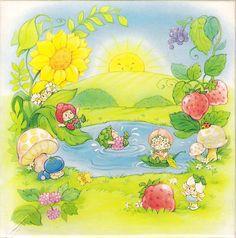 Strawberry Shortcake Cartoon, Vintage Strawberry Shortcake Dolls, Pochacco, Summer Painting, Rainbow Brite, Cute Japanese, Blue Berry Muffins, Cute Little Girls, Kawaii Cute