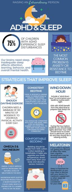 and Sleep: 6 Tips For a Better Sleep · - ADHD & Autism Resources Infographic About ADHD & Sleep Disturbances plus ways to help kids with ADHD sleep better.Infographic About ADHD & Sleep Disturbances plus ways to help kids with ADHD sleep better. Adhd Odd, Adhd And Autism, Autism In Adults, Adhd Help, Adhd Diet, Adhd Brain, Adhd Strategies, Adhd Symptoms, Adult Adhd