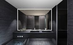 Black wood bath