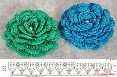 Schema per fiori a uncinetto #crochet #pattern