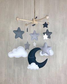 Mobile pour bébé mobile ciel sleeping lune mobile nuage